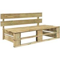 Garden Pallet Bench FSC Wood Green - ASUPERMALL