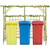 Garden Pergola for Triple Bins Impregnated