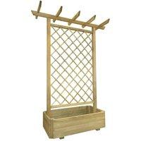 Garden Pergola Planter 162x56x204 cm Wood - YOUTHUP