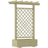 Zqyrlar - Garden Pergola Planter 162x56x204 cm Wood - Brown