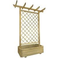 Betterlifegb - Garden Pergola Planter 162x56x204 cm Wood29285-Serial number