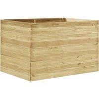 vidaXL Garden Raised Bed 150x100x97 cm Impregnated Pinewood - Brown