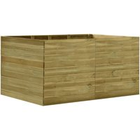 Garden Raised Bed 200x150x97 cm Impregnated Pinewood - Brown - Vidaxl