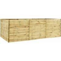 Garden Raised Bed 300x150x96 cm Impregnated Pinewood - Brown - Vidaxl