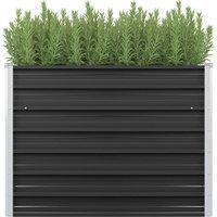 Garden Planter Anthracite 100x40x77 cm Galvanised Steel
