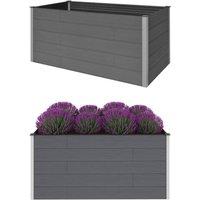 Garden Raised Bed Grey 200x100x91 cm WPC - Grey - Vidaxl