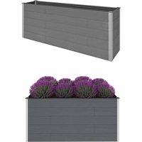 Garden Raised Bed Grey 200x50x91 cm WPC - Grey - Vidaxl