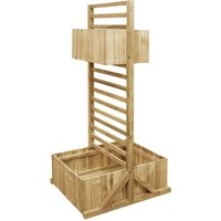 Youthup - Garden Planter with Trellis Impregnated Pinewood