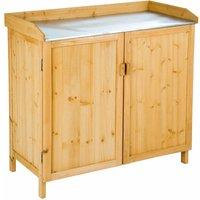 Tectake - Garden storage bench - storage bench, outdoor storage bench, garden storage chest - braun