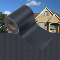 Asupermall - Garden Privacy Screens 4 pcs PVC 35x0,19 m Matte Dark Grey