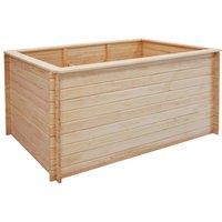Garden Raised Bed 150x100x80 cm Pinewood 19 mm - Brown