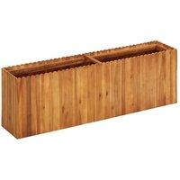 Zqyrlar - Garden Raised Bed 150x30x50 cm Solid Acacia Wood - Brown