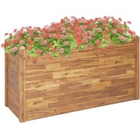 Garden Raised Bed 160x60x84 cm Solid Acacia Wood - Brown