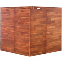 Garden Raised Bed Acacia Wood 100x100x100 cm - Brown