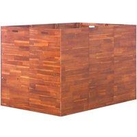 Garden Raised Bed Acacia Wood 150x100x100 cm - Brown