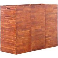 Garden Raised Bed Acacia Wood 150x50x100 cm - Brown
