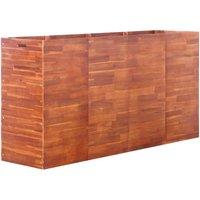 Zqyrlar - Garden Raised Bed Acacia Wood 200x50x100 cm - Brown
