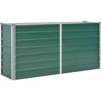 Zqyrlar - Garden Raised Bed Galvanised Steel 160x40x77 cm Green - Green