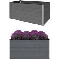 Zqyrlar - Garden Raised Bed Grey 200x100x91 cm WPC - Grey