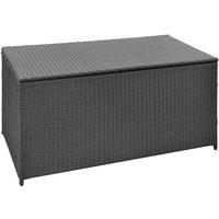 Garden Rattan Storage Box by Black - Wfx Utility