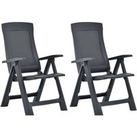 Garden Reclining Chairs 2 pcs Plastic Anthracite33892-Serial number