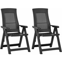 Garden Reclining Chairs 2 pcs Plastic Mocca33896-Serial number