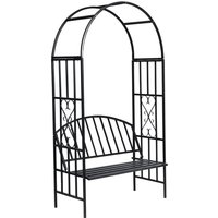 Youthup - Garden Rose Arch with Bench