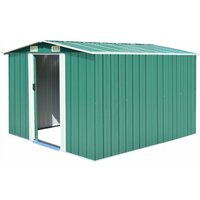 Youthup - Garden Shed 257x298x178 cm Metal Green