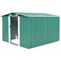 Garden Shed Metal 257x298x178 cm Green - Green - Vidaxl