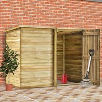 Garden Shed House 232x110x170 cm Impregnated Pinewood - YOUTHUP