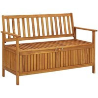 Youthup - Garden Storage Bench 120 cm Solid Acacia Wood