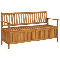 Youthup - Garden Storage Bench 148 cm Solid Acacia Wood