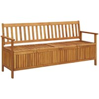 Youthup - Garden Storage Bench 170 cm Solid Acacia Wood