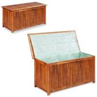 Garden Storage Box 117x50x58 cm Solid Acacia Wood - YOUTHUP