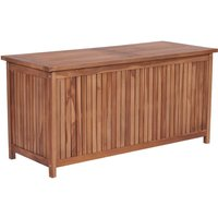 Garden Storage Box 120x50x58 cm Solid Teak Wood - ASUPERMALL