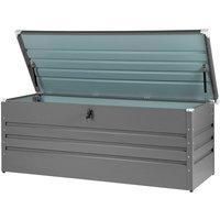 Beliani - Garden Storage Box Grey Steel Lockable Lid 600L Cebrosa