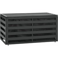 Garden Storage Box Aluminium 100x50x50 cm Anthracite - YOUTHUP