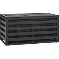 Zqyrlar - Garden Storage Box Aluminium 100x50x50 cm Anthracite - Anthracite