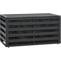 Garden Storage Box Aluminium 100x50x50 cm Anthracite - Anthracite - Vidaxl