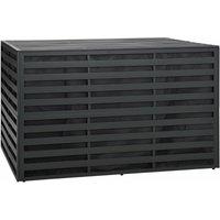 Zqyrlar - Garden Storage Box Aluminium 150x100x100 cm Anthracite - Anthracite