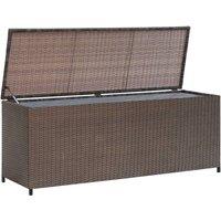 Zqyrlar - Garden Storage Box Brown 120x50x60 cm Poly Rattan - Brown