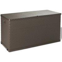 Garden Storage Box Brown 120x56x63 cm - ASUPERMALL