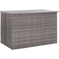 Garden Storage Box Grey 150x100x100 cm Poly Rattan - YOUTHUP