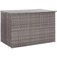 Zqyrlar - Garden Storage Box Grey 150x100x100 cm Poly Rattan - Grey