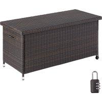 Tectake - Garden storage box Kiruna - Outdoor furniture cushion storage 121x56x60cm, 270l - outdoor storage box, bench garden storage, outside