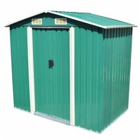Youthup - Garden Storage Shed Green Metal 204x132x186 cm