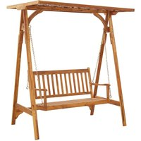 Garden Swing Bench with Trellis Solid Acacia Wood - YOUTHUP