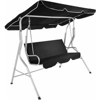 Tectake - Garden swing seat - garden swing chair, swing chair, hanging garden chair - black
