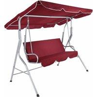 Tectake - Garden swing seat - garden swing chair, swing chair, hanging garden chair - burgundy