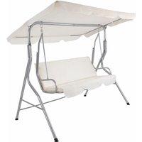 Tectake - Garden swing seat - garden swing chair, swing chair, hanging garden chair - beige